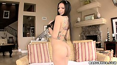 Yurizan Beltran showing her sweet body and big tits in a hot solo
