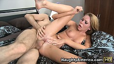 Brynn Tyler gets nasty by sucking her juices off her lover's dick