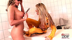 A lesbian hardcore porno version of infamous movie Kill Bill