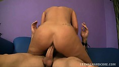 Skinny Alexis Grace puts it all together and gets mouth and cunt satisfied