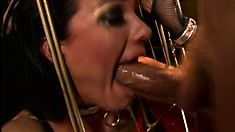 Beautiful sex slave gets pounded raw at her master's discretion