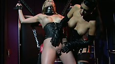 Precious blonde Anna Mills is teased by her voluptuous mistress