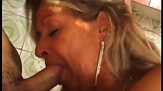 Beautiful stacked bitch Mary still knows how to fuck hungry cleavers