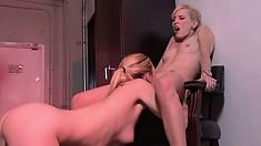 Tara Lynn Foxx gets the good treatment from Kiara Diane for a nice cum session