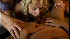 Sexy lesbians get horny and enjoy a rough pussy-eating fuck fest